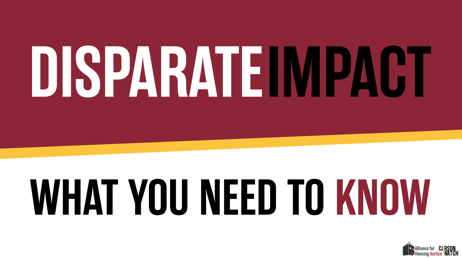 Understanding Disparate Impact Carsonwatch Examples of disparate impact in a sentence, how to use it. understanding disparate impact